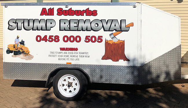 All Suburbs Stump Removal Trailer